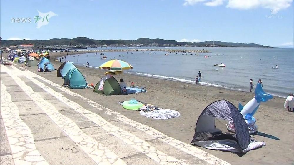 千葉県館山市の海水浴場 2年ぶりに開設