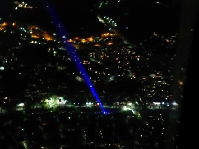 千葉市上空で訓練飛行中 陸上自衛隊ヘリコプターにレーザー光線照射か