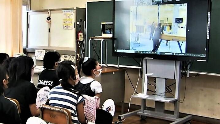 千葉県船橋市の小学生 アメリカ男子体操チームとオンラインで交流