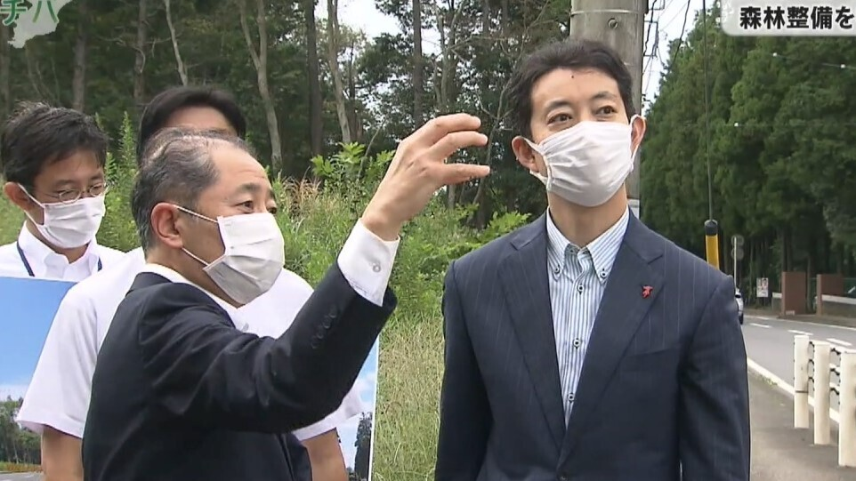 熊谷千葉県知事 災害に強い森林整備を視察