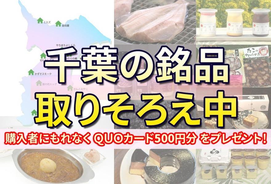 【購入者全員にQUOカード500円プレゼント】千葉の銘品を販売中!