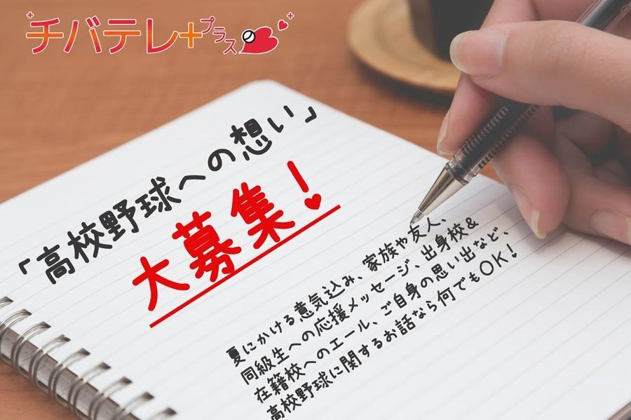 「高校野球への想い」募集中! QUOカードPay333円分を100名様に贈呈