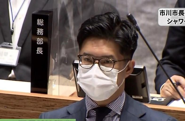 千葉県市川市長の不信任案提出 ガラス張りシャワー室撤去せず
