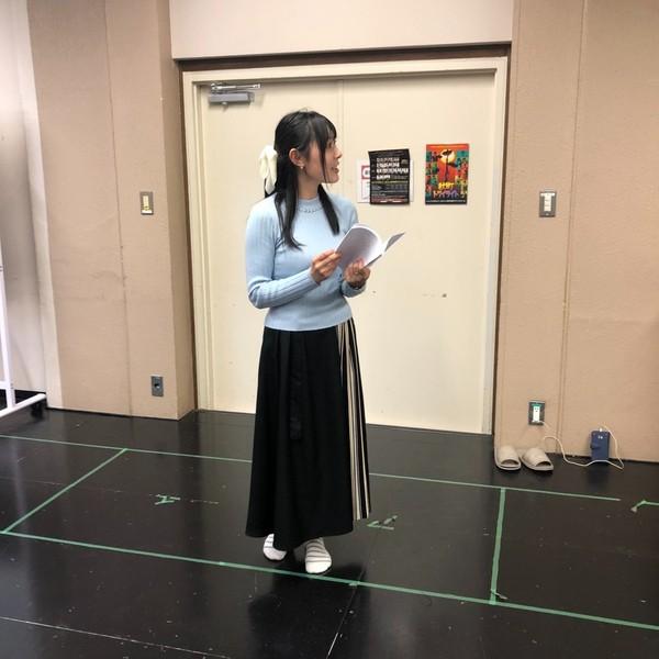 声優の長弘翔子さん、絶賛お稽古中(*^^*)